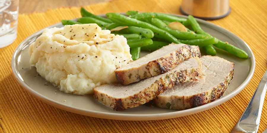Pork Loin Filet and Mashed Potatoes