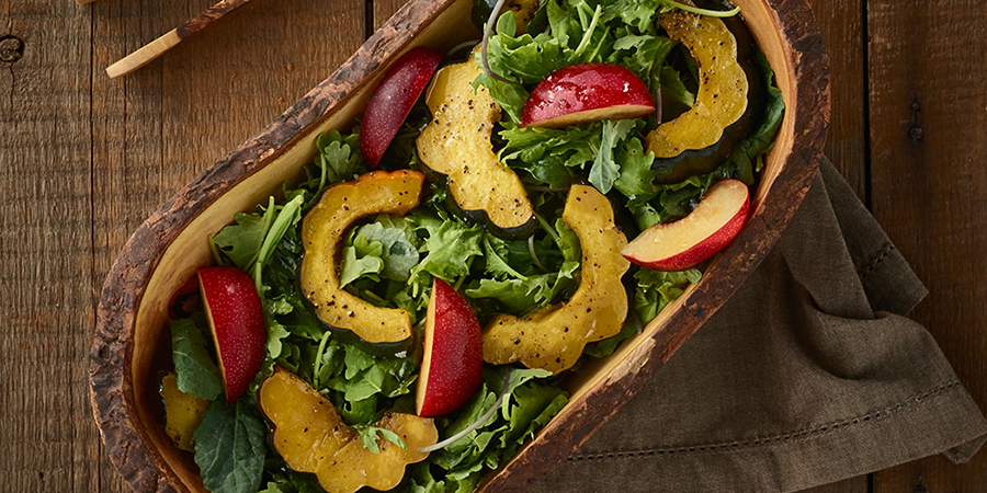 Acorn Squash and Kale Salad