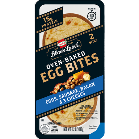 HORMEL™ BLACK LABEL™ Egg Bites with Bacon, Sausage, and three cheeses