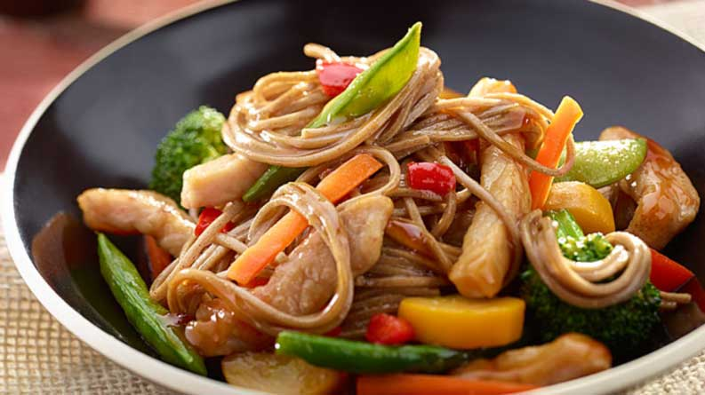 Peppered Pork Lo Mein