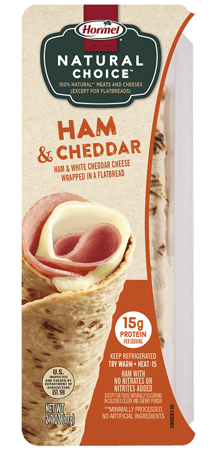 HORMEL<sup>®</sup> NATURAL CHOICE<sup>™</sup> WRAPS Ham & Cheddar