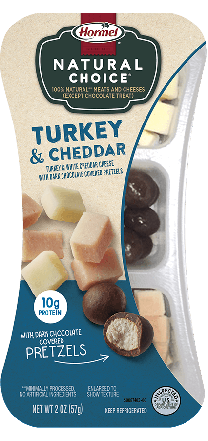 HORMEL<sup>™</sup> NATURAL CHOICE<sup>®</sup> SNACKS Turkey & Cheddar