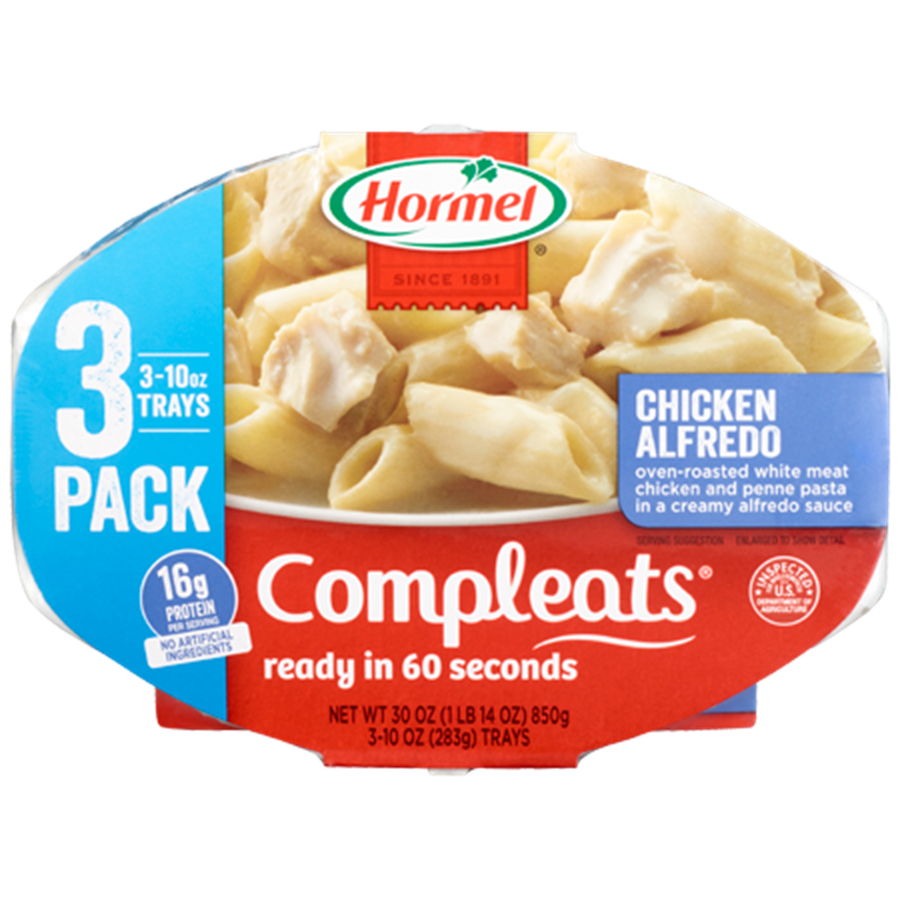 HORMEL<sup>®</sup> COMPLEATS<sup>®</sup> Chicken Alfredo 3-Pack