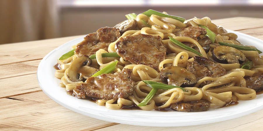 Peppercorn Spiced Pork Lo Mein