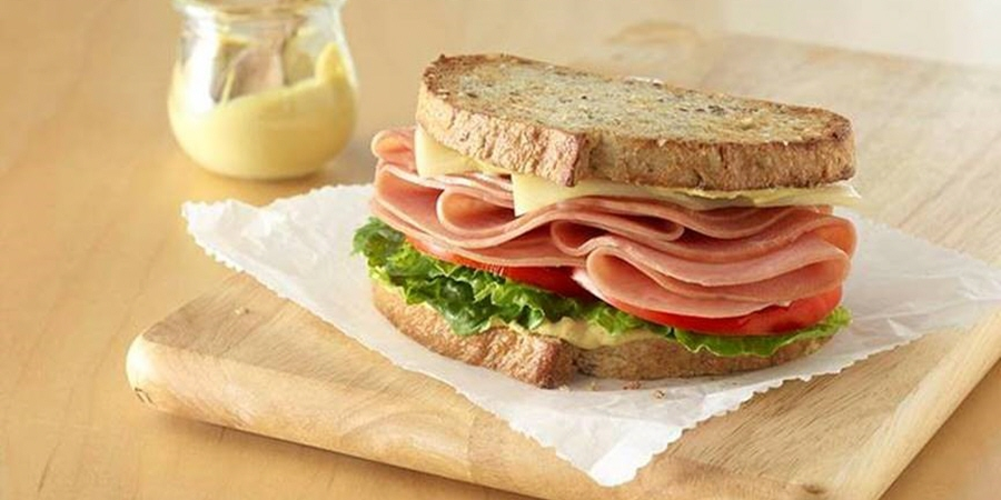 Honey Ham and Swiss Sandwich