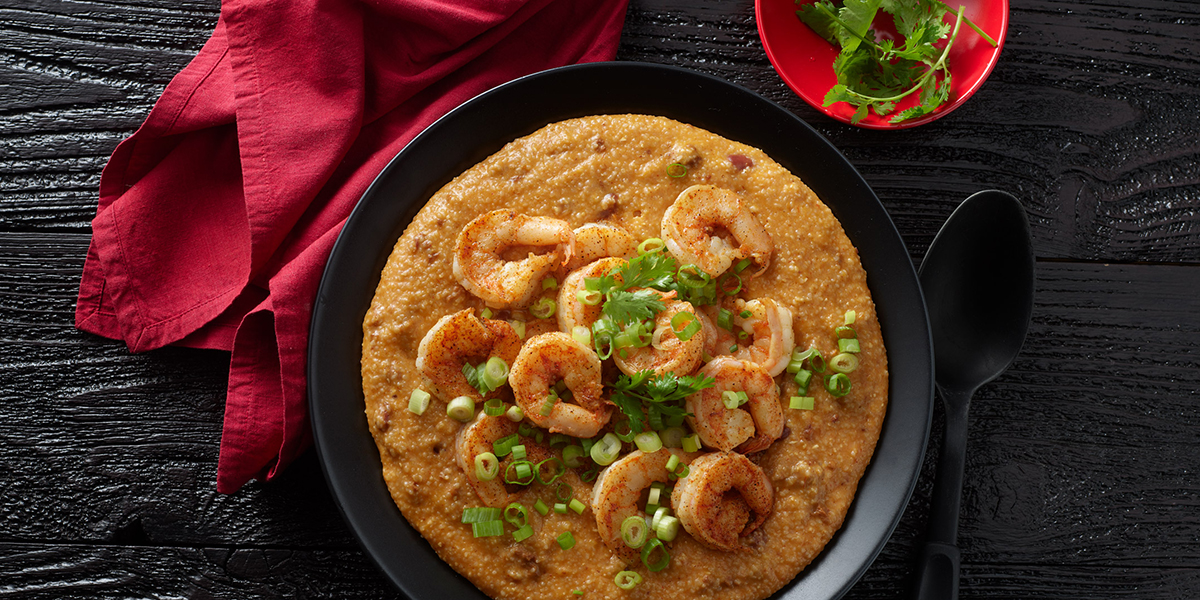 Chili Grits and Shrimp