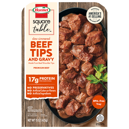 HORMEL<sup>®</sup> Slow Simmered Beef Tips & Gravy