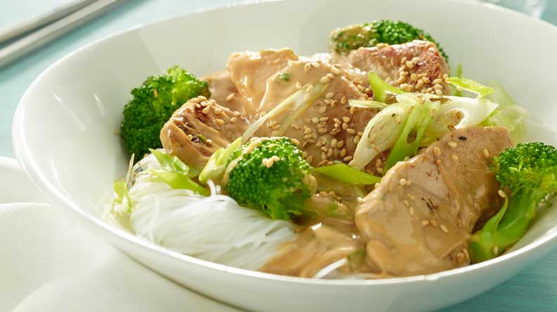 Turkey Peanut Noodles