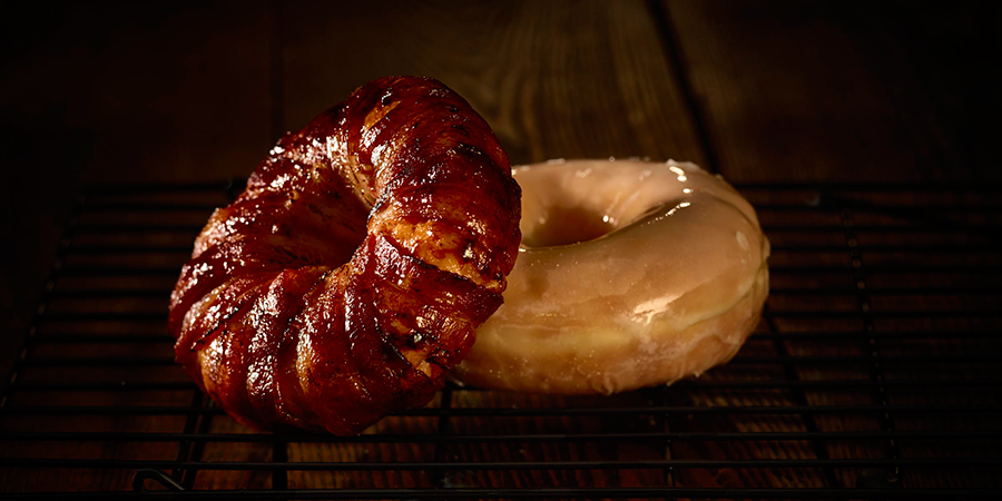 Brown Sugar Bacon-Wrapped Donuts
