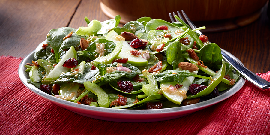 Cranberry Almond Bacon Salad