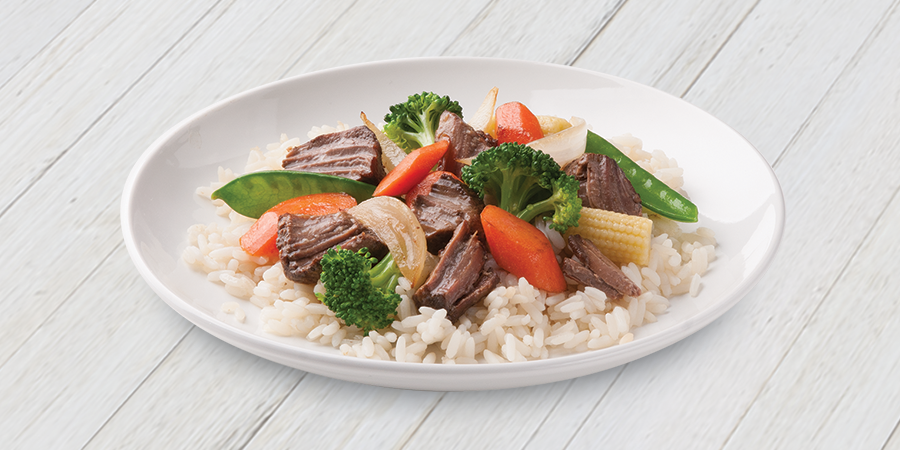 Beef Stir Fry with Rice