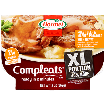 HORMEL<sup>®</sup> COMPLEATS<sup>®</sup> XL Roast Beef & Mashed Potatoes With Gravy