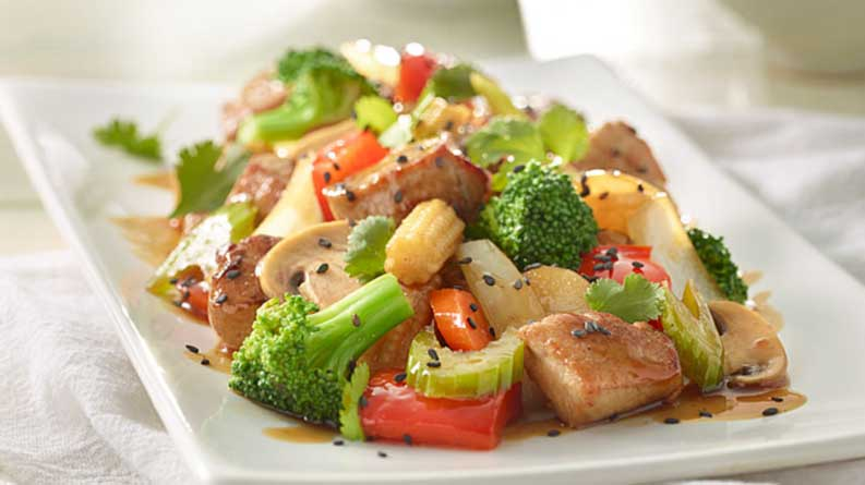 Saigon Sizzling Pork with Mixed Vegetables