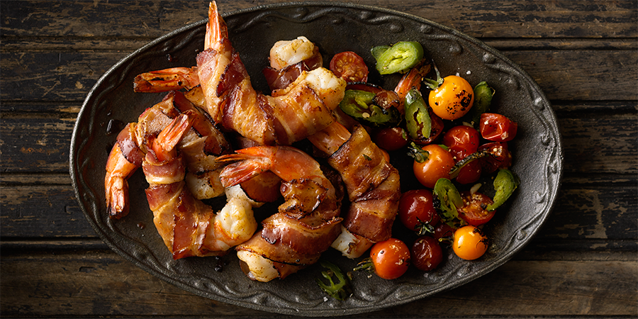 Jalapeño Bacon Wrapped Shrimp