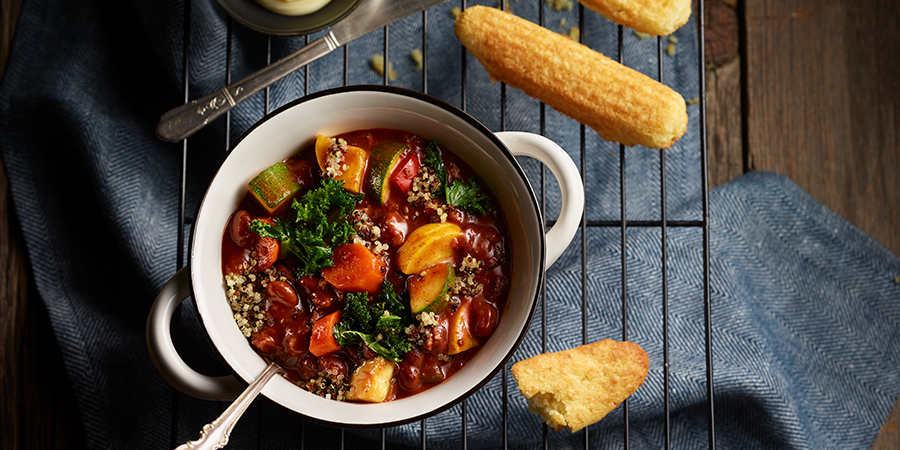 <strong>Vegetable Chili with Kale and Quinoa</strong>