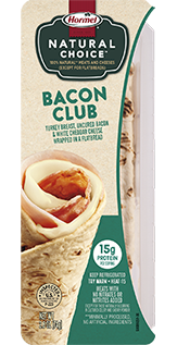 HORMEL<sup>®</sup> NATURAL CHOICE<sup>™</sup> WRAPS Bacon Club