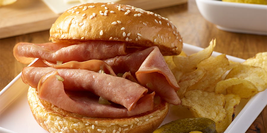 <strong>Slow-Cooker Ham Sandwiches</strong>