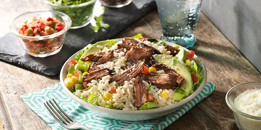 Beef Burrito Bowl with Cilantro Rice