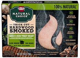 HORMEL® NATURAL CHOICE® Applewood Smoked Turkey with Garlic & Herb