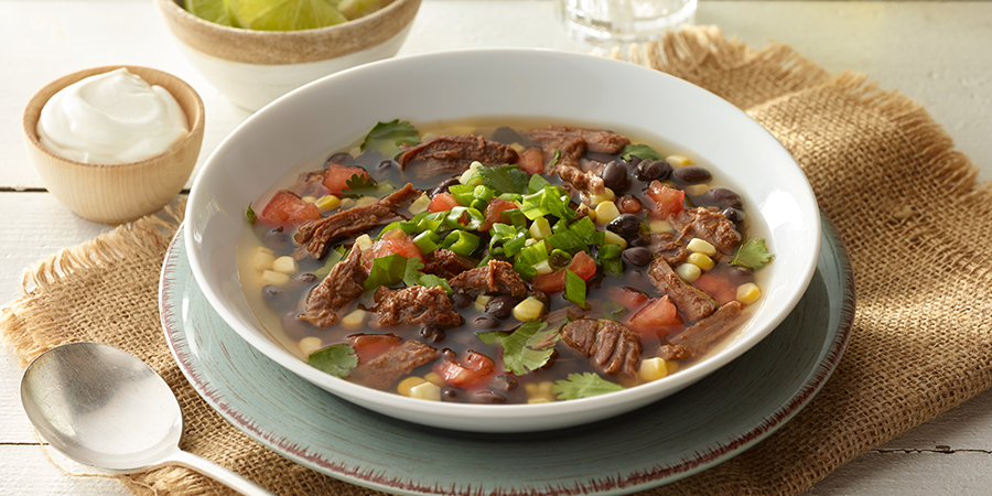 Hearty Beef & Black Bean Soup