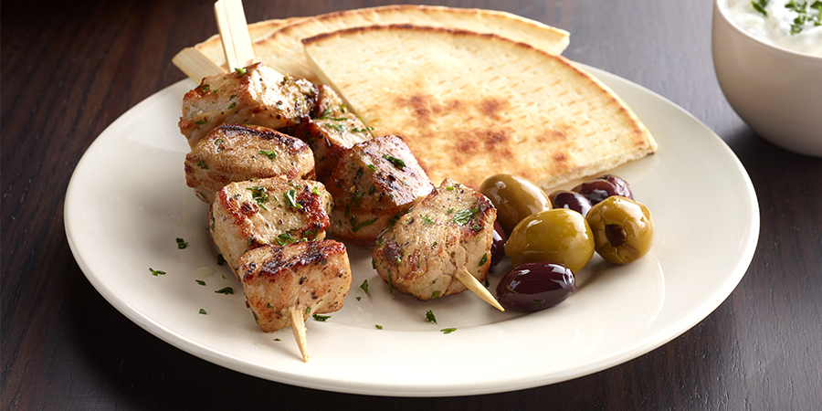 <strong>Greek Pork Kabobs</strong>