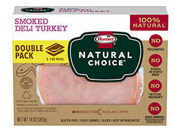HORMEL<sup>®</sup> NATURAL CHOICE<sup>®</sup> Smoked Deli Turkey DOUBLE PACK