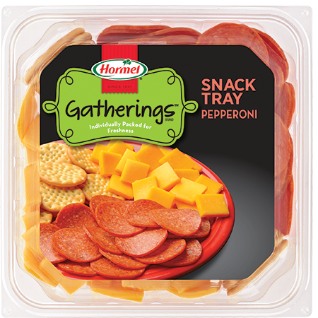 HORMEL GATHERINGS<sup>®</sup> Snack Tray Pepperoni and Cheese 14oz