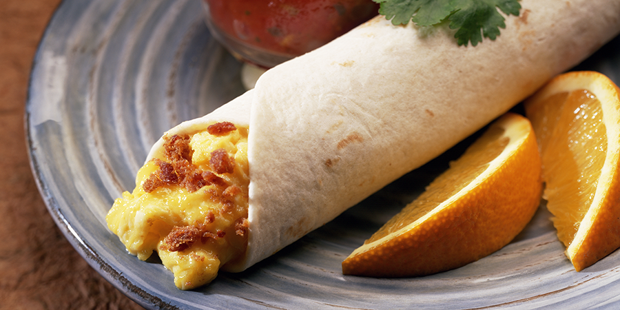Breakfast Bacon Burrito
