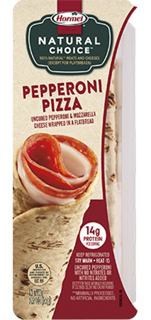 HORMEL<sup>®</sup> NATURAL CHOICE<sup>™</sup> WRAPS Pepperoni Pizza