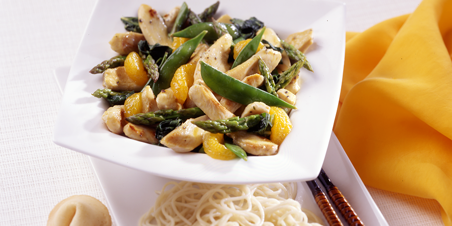 Citrus Chicken Lo Mein