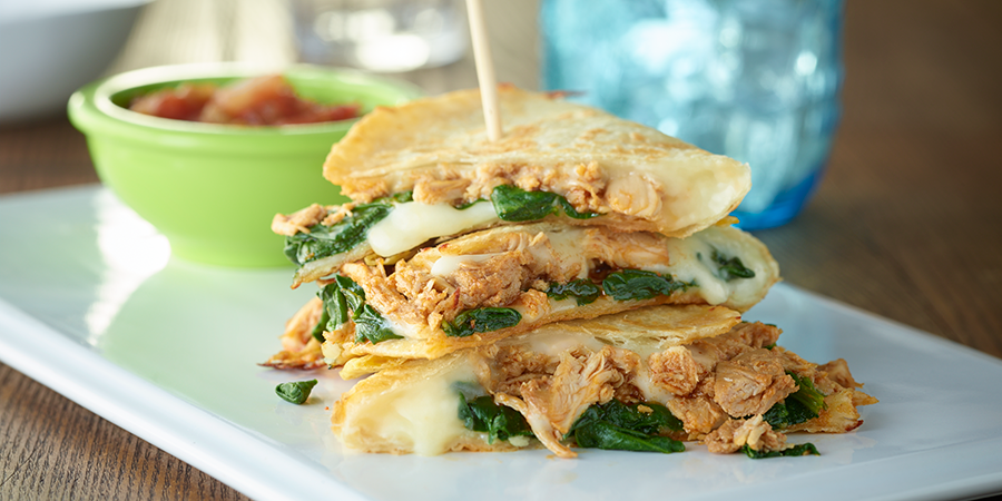Simple Spinach Quesadillas