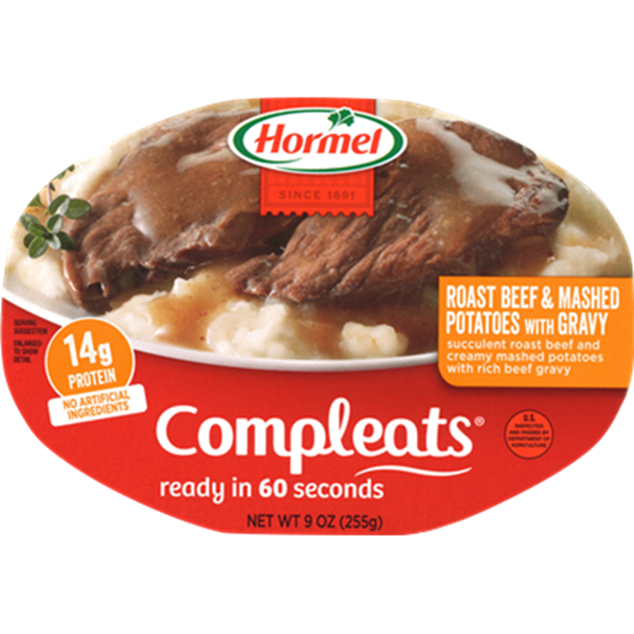 HORMEL<sup>&reg;</sup> COMPLEATS<sup>&reg;</sup> Roast Beef &amp; Gravy with Mashed Potatoes